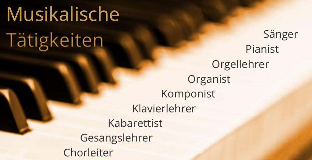 Musikalische Tätigkeiten von Max Rädlinger